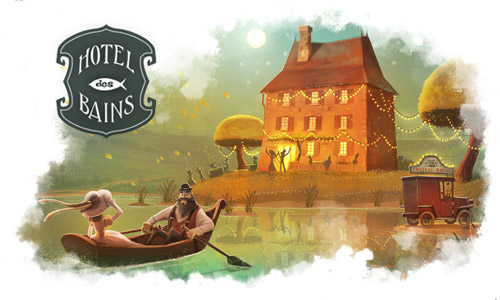 Illustartion - Hotel des Bains - Olivier Derouetteau - Art direction - Illustration